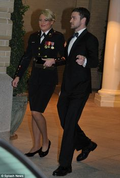 a nice way to show his support to the Marines - good job, Justin