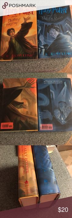 Book 1 & 2 hardcover of Harry Potter series These two books are the first in the Harry Potter series in hard cover mint condition. Bought for $26 a piece asking $10 a piece now. Other