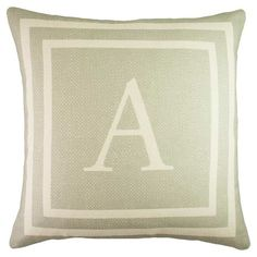 Add a personalized touch to your living room or den with this lovely linen pillow, showcasing a monogrammed motif in grey and white. Made in the USA.