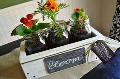Rustic Mason Jar Planter