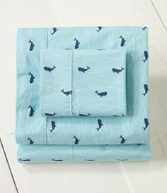 #LLBean: Whale Percale Sheet Set