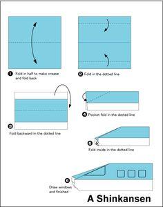 easy origami train - Google Search