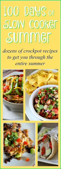 100 Days of Slow Cooker Summer Recipes--enough recipes to get you through an entire summer! #slowcookersummer