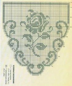 Tina's handicraft : 2 patterns for crochet curtain with flowers