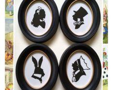 Alice in Wonderland Silhouette Set