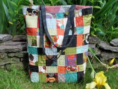 PDF Bag PATTERN One Charm Pack or Scraps Teacher's by sweetjane, $9.00