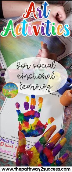 Art activities to teach and practice social emotional learning skills for kids and young adults