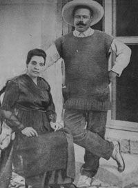 Pancho Villa y Austraberta Renteria su última esposa.