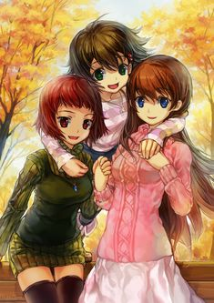 Ai, Noe, and Hiromi // True Tears