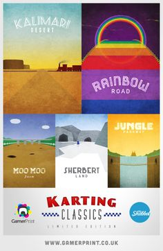 Mario Kart posters. I'd like to see one for Royal Raceway, @Aileen Kucsera.
