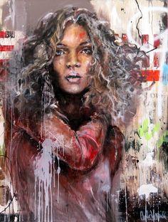 CECILE DESSERLE MIA Format 89 x 116 cm Huile sur toile | Cécile Desserle - Site Officiel