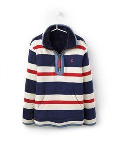 JNRTHOMASHalf Zip Reversible Sweatshirt Fleece Joules Clothing, Joules Uk, Jumper, Zip, Navy, Sweatshirts, Boys, Christmas, Jackets