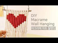 Macrame Wall Hanging Patterns, Macrame Patterns, Macrame Knots, Macrame Jewelry, Valentine Day Boxes, Valentine Crafts, Macrame Design, Macrame Projects, Macrame Tutorial