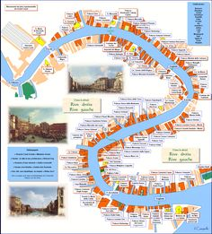 plan grand canal venise - love this interactive map! Venice Travel, Italy Travel, Venice Italy Map, Venice City, Places To Travel, Travel Destinations, Grand Canal Venice, Walking Map, Venice Florida