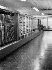 August 7, 1944 - Computer History - IBM presents ASCC Giant Brain to Harvard. IBM president Thomas J. Watson Sr. formally presents the Automatic Sequence Controlled Calculator (ASCC) to Harvard University. One of the earliest digital computers, known at Harvard as the Mark I, this giant relay-based machine was the result of Professor Howard Aiken's research into computation..