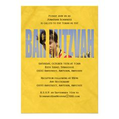 Bar Mitzvah Photo Invitation in Yellow Crinkled online after you search a lot for where to buyReview          Bar Mitzvah Photo Invitation in Yellow Crinkled lowest price Fast Shipping and save your money Now!!...