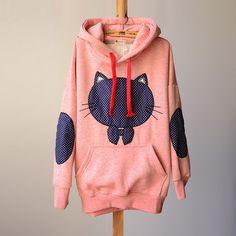 Cartoon fleece patch bow cute dot cat