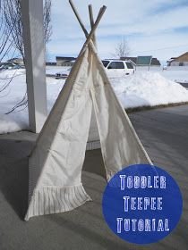 Elizabeth Avenue: Toddler Teepee Tutorial Favourite teepee tutorial so far! Toddler Teepee, Teepee Kids, Teepee Tent, Teepees, Diy Arts And Crafts, Diy Crafts For Kids, Craft Ideas, Kids Diy, Sewing For Kids