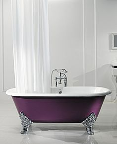Astonian Luxor 1780x800mm 2-taphole cast iron roll top bath white with ball and claw feet
