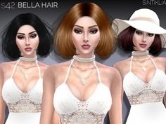 The Sims Resource: Hair`s 42 Bella by Sintiklia • Sims 4 Downloads