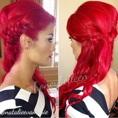 I love bright red hair! Maybe I'll be bold enough to do this! Eva Marie why are you perfect! Bright Red Hair, Red Hair Color, Cool Hair Color, Red Color, Love Hair, Great Hair, Gorgeous Hair, Awesome Hair, Eva Marie