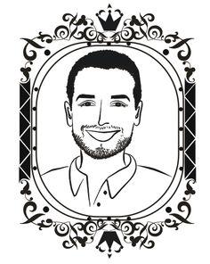 Un dibujo de tu cara con tu pareja o familia para poner en sellos, stickers, botellas, bolsos o llaveros  (MillieMade Art)