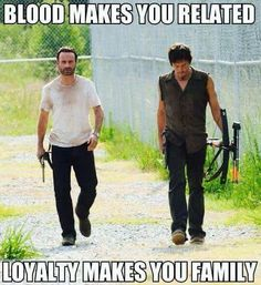 On The Walking Dead, AMC's series filmed in Georgia, no one is safe. Not even its two biggest stars, Rick Grimes (Andrew Lincoln) and Daryl (Norman Reedus). Carl The Walking Dead, The Walk Dead, Walking Dead Quotes, Walking Dead Funny, Walking Dead Zombies, The Walking Dead 3, Daryl And Rick, Prince, Andrew Lincoln