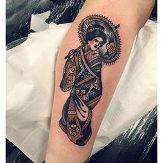 Geisha Tattoo By Joe Ellis - http://tattooideas22.com/geisha-tattoo-joe-ellis/