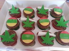 Bob marley/reggae cupcakes x