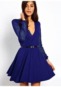 Rozkloszowana sukienka kopertowa Dresstination