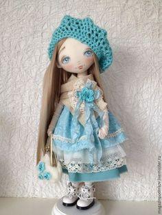 Купить Кукла Кристина - бирюзовый, молочный, кукла ручной работы, кукла в подарок, интерьерная кукла