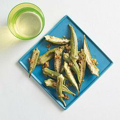Warm-Spiced Okra Recipe | Cooking Light #myplate #vegetables