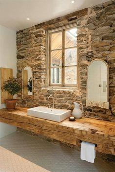 Beautiful bathroom! Love the counter.
