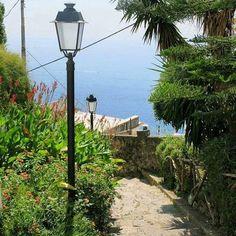 The path goes down and down to Amalfi [Sentiero Antica Repubblica]. For…