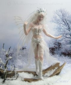 White as snow, fluffy light fairy snow, glowing as sparkling cold ice. Lumi brightens her frosty day cracking little frosted ponds with the tip of her boots.