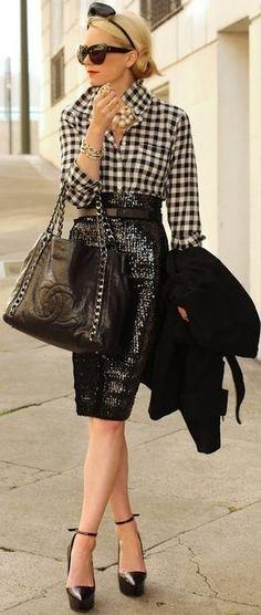 Fashionista: High Class Fashion:Skirt and Shirt