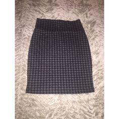 Black & Grey Skirt Stretchy black & grey skirt. Hugs curves very nice Forever 21 Skirts