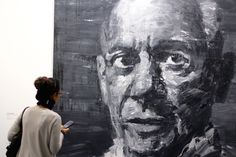 Portrait de Picasso par Yan Pei-Ming Jean Michel Basquiat, Roy Lichtenstein, David Hockney, Andy Warhol, Expo Picasso, Yan Pei Ming, Chef D Oeuvre, Grand Palais, Les Oeuvres