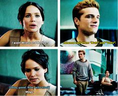 Peeta is so done with her! He's probably thinking this is the girl I am in love with