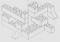 lego bricks coloring page - 1000×700