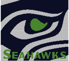 Seattle Seahawks Crochet Pattern Afghan Graph, $5.00... Pattern now available in MS Excel Format for easier following. More patterns available soon in this easier format!!!