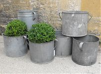 Zinc tubs for planters from Anton K