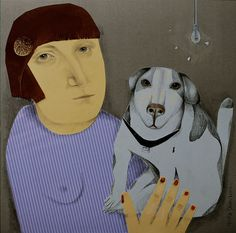 Camille and Morgan .. #collage by Anita Dominoni...#dog
