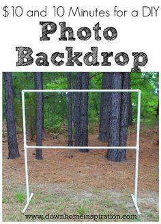 Backdrop Frame, Diy Photo Backdrop, Diy Wedding Backdrop, Diy Photo Booth, Birthday Backdrop, Photo Backdrops, Photo Booths, Backdrop Ideas, Diy Party Backdrop Stand