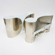 Pair of sconces Foglio by Scarpa | http://modernariato.fr/collections/frontpage/products/paire-d-appliques-foglio-chromee-scarpa