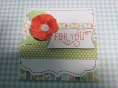 "3 x 3"" card made from the Zoe Paper Pack- Item Number: X7197B"