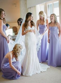 Love the brides dress and the color of Brides maids dresses