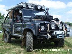 Lara Croft Land Rover Defender;; looks sick, but their terrible cars.