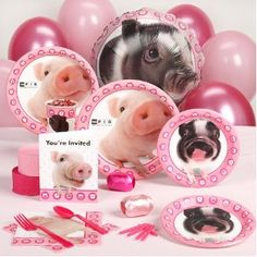We did a pig themed birthday party for Lucy's 2nd birthday.  We used a lot of this stuff.