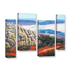 ArtWall Gene Foust 'Rocky Mountain Living' 4 Piece Gallery-wrapped Canvas Staggered Set